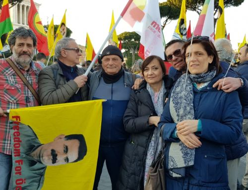 Libertà per il Presidente Ocalan. Melagrana alla manifestazione di Roma