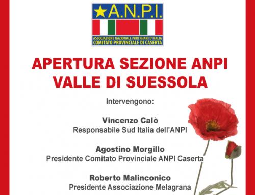 Venerdi 12 aprile apertura Sezione ANPI Valle di Suessola