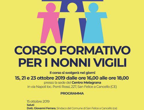 Melagrana presenta il Corso Formativo per Nonni Vigili del Comune di San Felice a C.